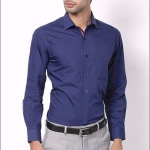 Balmain Vintage Navy Blue Dress Shirt